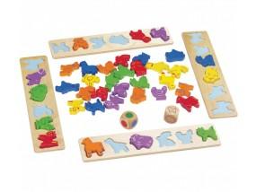 obrázek Dřevěná desková hra - zvířátka