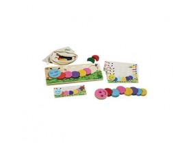 obrázek Dřevěné hračka - šťastná housenka