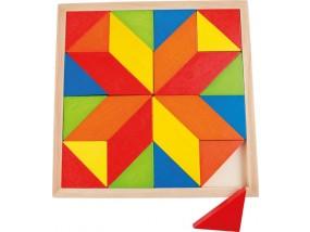 obrázek Dřevěná mozaika - hvězda