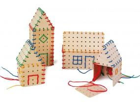 obrázek Provlékací hra - postav si dům