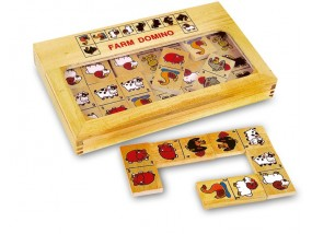 obrázek Dřevěné domino FARMA