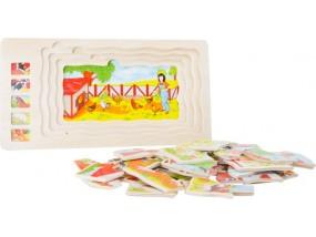 obrázek Vrstvené puzzle FARMA