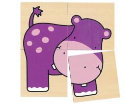 obrázek Puzzle a pexeso divoká zvířátka