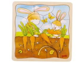 obrázek Vrstvené puzzle - Zajíc pěstitel