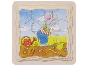 obrázek Vrstvené puzzle - Myšák pěstitel