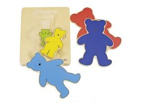 obrázek Vrstvené puzzle - Medvěd