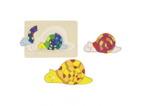 obrázek Vrstvené puzzle - Šnek