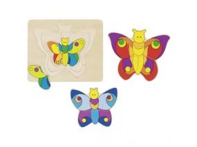 obrázek Vrstvené puzzle - Motýl