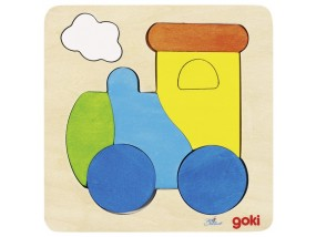 obrázek Vkládací puzzle - Lokomotiva