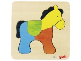 obrázek Vkládací puzzle - Kůň